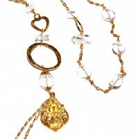 Long Gold Ganesh Quartz : 105