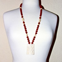 Bone and Ganesh Necklace #108