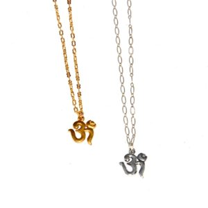 Simple Chain Necklace with Om #361 368