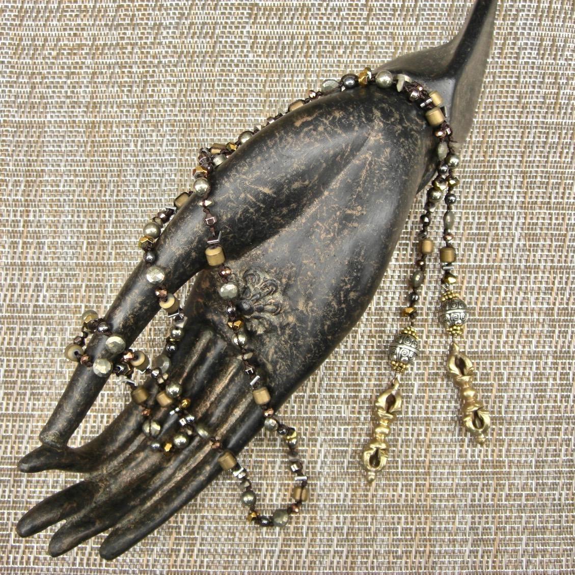 Tibetan Rose Lariate Necklace