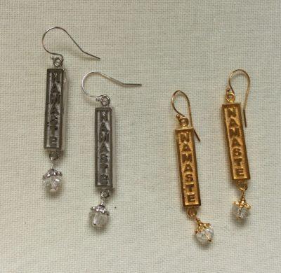 Namaste with Quartz crystal Earrings/sku738