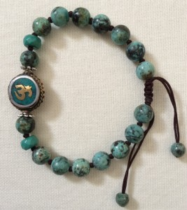 Unique Om African Turquoise Bracelet