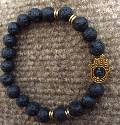 Hamsa lava stretch bracelet