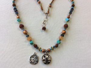 Ganesh an Om multi gemstone necklace/Sku802