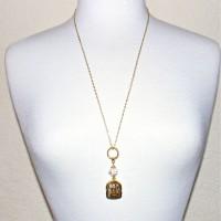 Ganesh Prayer Case Chain Necklace #345