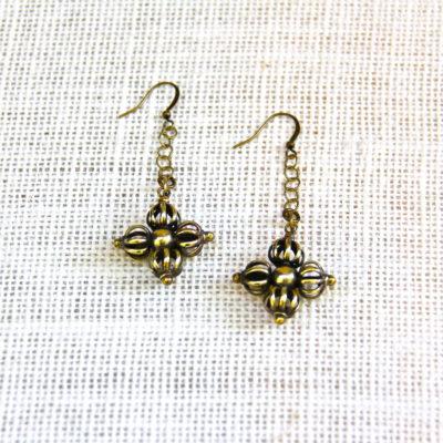 Ethnic Double Dorje Earrings #430