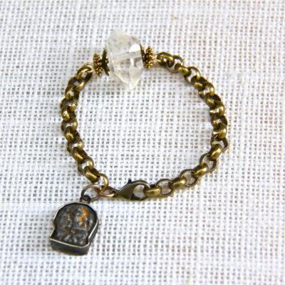 Ethnic Antiqued Ganesh Bracelet #431