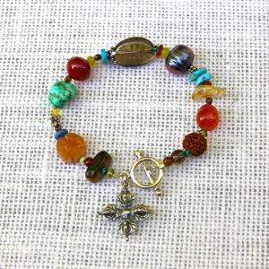 Multi-Stone Double Dorje Bracelet #505