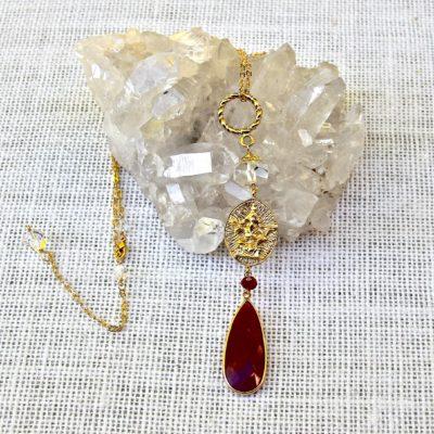 Golden Ruby Om/Ganesh #346