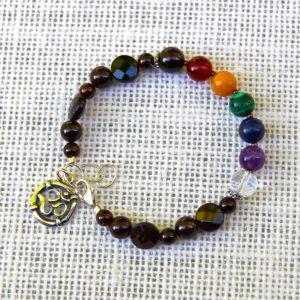 Garnet Beaded Chakra Bracelet #615