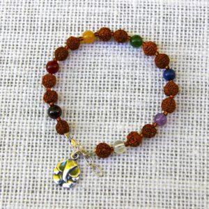 Rudraksha Chakra Bracelet #517