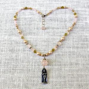 Rose Lakshmi Goddess Necklace #221