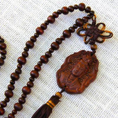 Rosewood Kuan Yin 108 Bead Mala #393