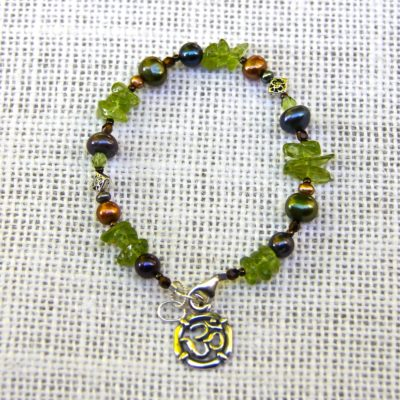 Peridot and Pearl Bracelet #511