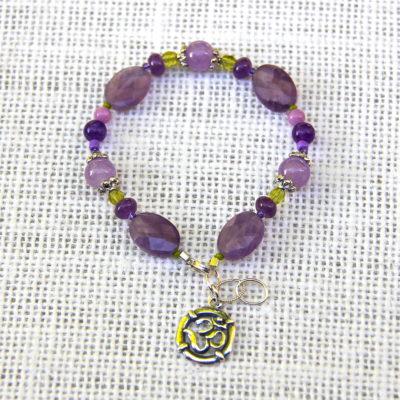 Amethyst Pitta Balancing Bracelet #506