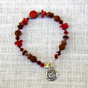Rudraksha and Carnelian Bracelet #510