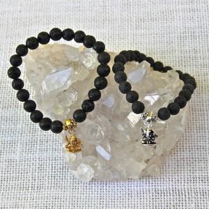 Black Lava stone Ganesh/sku 522 523