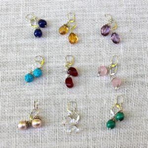 Gemstone Dangle Earrings #621
