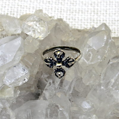 Tibetan Double Dorje Ring #700