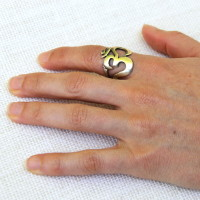 Bold Silver Om Ring #710