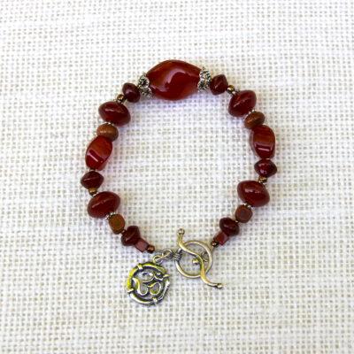 Fiery Carnelian Bracelet #514