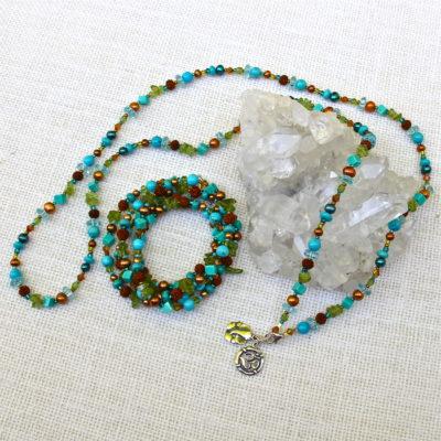 Magnesite & Turquoise Multi-Use Necklace or Bracelet #531