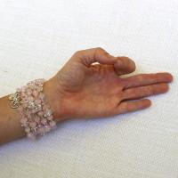 Rose Quartz Multi-Use Bracelet or Necklace #536
