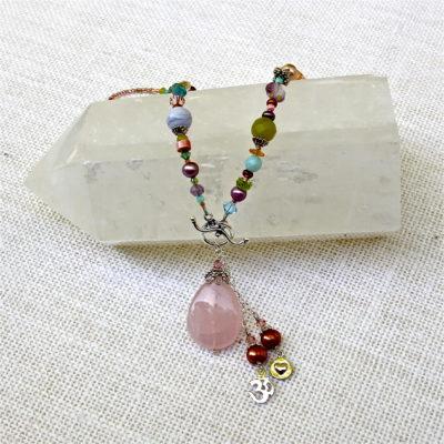 Rose Quartz Gemstone Necklace #122