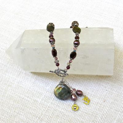 Labradorite Gemstone Necklace #123