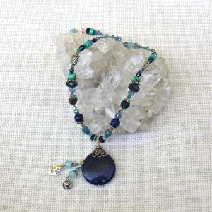 Lapis Gemstone Pitta Necklace #127