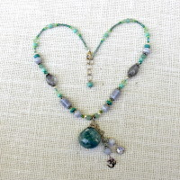 Aquamarine Gemstone Necklace #128
