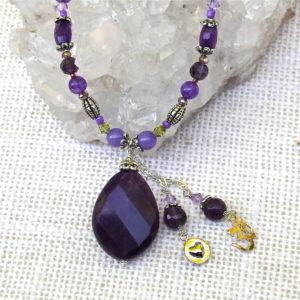 Amethyst Pitta Balancing Necklace #121