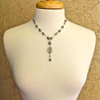 Blue Pearl Kuan Yin Necklace #216
