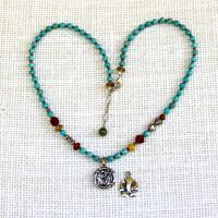 Turquoise Om Ganesh Necklace #281