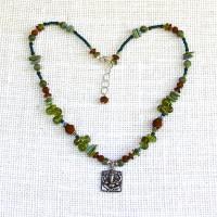 Ganesh Peridot Necklace #102