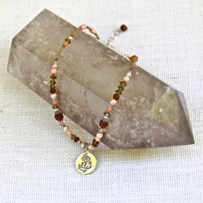 Ganesh Peach Coral Necklace #101