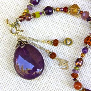 Amethyst Gemstone Necklace #124
