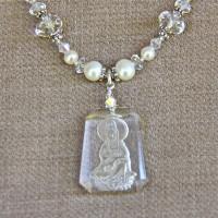 Crystal Kuan Yin Necklace #215