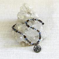 Blue-Tone Lakshmi Goddess Necklace #222