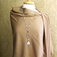 Gold or Silver Long Quartz Necklace #103/104