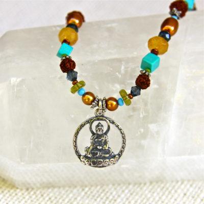 Colorful Buddha Halo Necklace #200