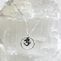 Silver Encircled Om Necklace #360