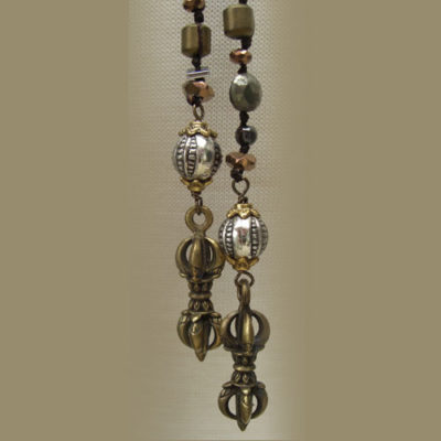 Lariat Gemstone Tibetan Dorje necklace