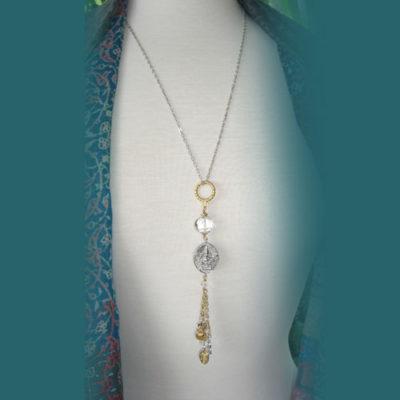 Om and Ganesh stylish, long necklace