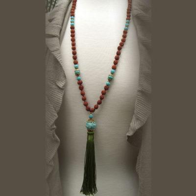 Rudraksha Turquose 108 bead Mala