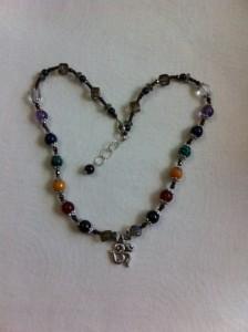 Chakra Gemstone Necklace. Honoring the Sacred/Sku413